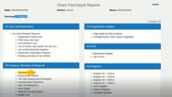 Rich result on google's SERP when searching for gram panchayat work report